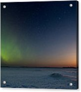 Moonrise And Aurora Acrylic Print