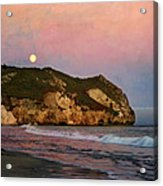 Moonrise At Avila Beach Acrylic Print