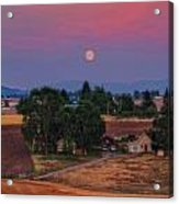 Moonrise At Sunset Acrylic Print by Dan Quam