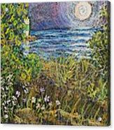 Moonrise At Sunset Acrylic Print