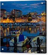 Moonrise In Karlskrona Acrylic Print