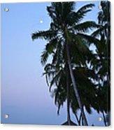 Moonrise In Maldives Acrylic Print by Corinne Rhode
