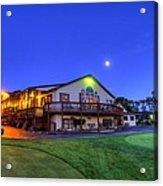 Moonrise On Golfcourse In Salem Ohio Acrylic Print