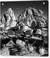 Moonrise Over Joshua Tree Acrylic Print