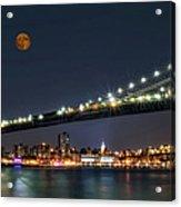 Moonrise Over Manhattan Acrylic Print