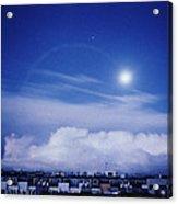 Moonrise Over Nova Harfa Acrylic Print