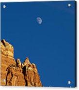 Moonrise Over Sandstone Acrylic Print