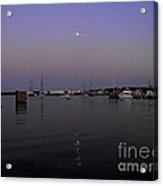 Moonrise Over The Harbor Acrylic Print