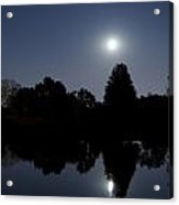 Moonrise Over The Lake Acrylic Print