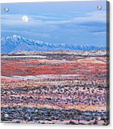 Moonrise Over Virgin Peak Acrylic Print