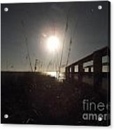 Moonrise With Boardwalk 2 Acrylic Print