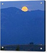 Moonset In The Morning Acrylic Print