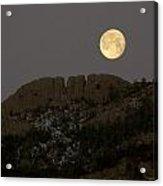 Moonset Over Horsetooth Acrylic Print