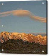 Moonset Over Mt Whitney Img 0637 Acrylic Print