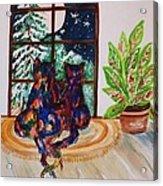 Moonstruck Cats - Winter Wonderland Acrylic Print