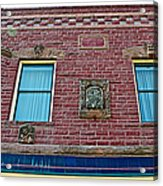 Moore Block-1896 With Gargoyle-like Features In Pipestone-minnesota  Acrylic Print