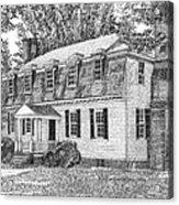 Moore House In Yorktown Virginia Acrylic Print