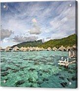 Moorea Lagoon Resort Acrylic Print