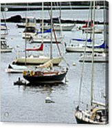 Moored At Kittery Point Maine Acrylic Print