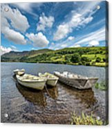 Moored Boats  Acrylic Print by Adrian Evans