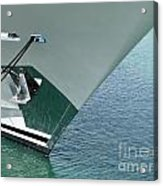 Moored Ships Bow With Retracted Anchor Abstract Acrylic Print