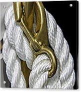 Mooring Rope-nantucket Massachusetts Series 02 Acrylic Print