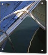 Mooring Ropes On A Fishing Boat Acrylic Print