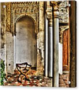 Moorish Chair And Alcove At The Alhambra Acrylic Print