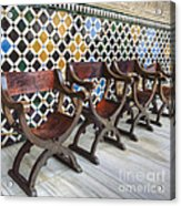 Moorish Tile Work At The Alhambra Acrylic Print