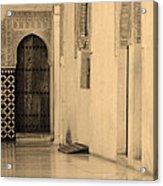 Moorish Walkway In Sepia At The Alhambra Acrylic Print