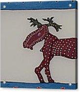 Moose Coming Home For Christmas Acrylic Print