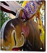 Moose On Parade Acrylic Print by Dora Miller