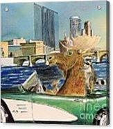 Moose Rapids Or Moose City Drive Acrylic Print