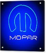 Mopar Neon Sign Acrylic Print