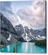Moraine Cloud Burst Acrylic Print by Jon Glaser
