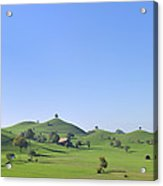 Moraine Hill Landscape Switzerland Acrylic Print
