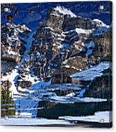 Moraine Lake Reflection Abstract Acrylic Print