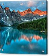 Moraine Lake Sunrise Acrylic Print