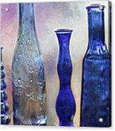 More Cobalt Blue Bottles Acrylic Print