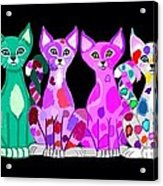 More Colorful Kitties Acrylic Print