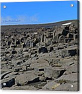 More Rock And Lava At Dettifoss Acrylic Print
