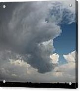 More Strong Cells Moving Over South Central Nebraska Acrylic Print