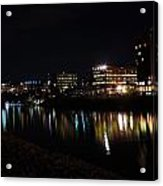 Morgantown Skyline At Night From The Waterfront Acrylic Print