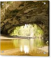 Moria Gate Arch In Opara Basin On South Island In Nz Acrylic Print