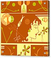 Morioka Montage In Sixties Sunshine Acrylic Print