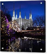 Mormon Church At Christmas Acrylic Print