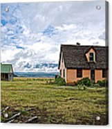 Mormon Row Historic District In Grand Tetons National Park-wyoming Acrylic Print