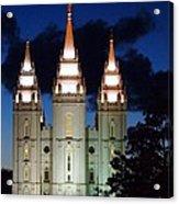 Mormon Temple Lds Utah Acrylic Print