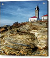 Morning At Beavertail Lighthouse Acrylic Print