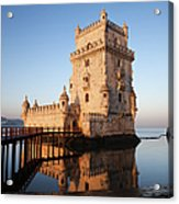Morning At Belem Tower In Lisbon Acrylic Print